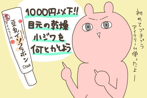 1000円以下のプチプラアイクリームで乾燥小じわケア!