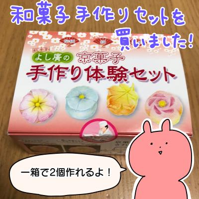 和菓子手作りキットで和菓子作ってみた!