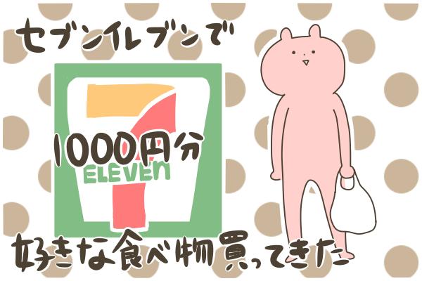 セブンイレブンで千円分好きな食べ物買ってきた