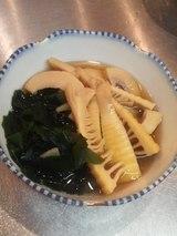 こちらは若竹煮。ホントに旬の味は幸せの味だよね〜