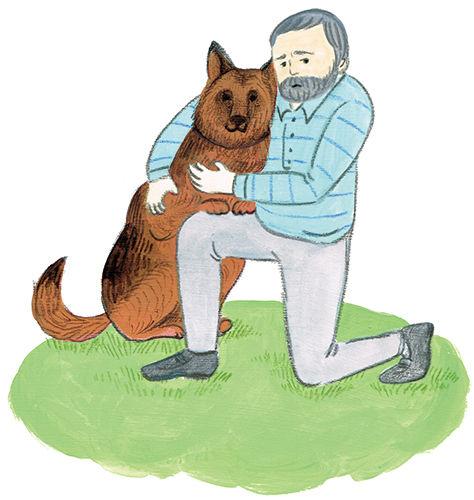 犬とおじさん