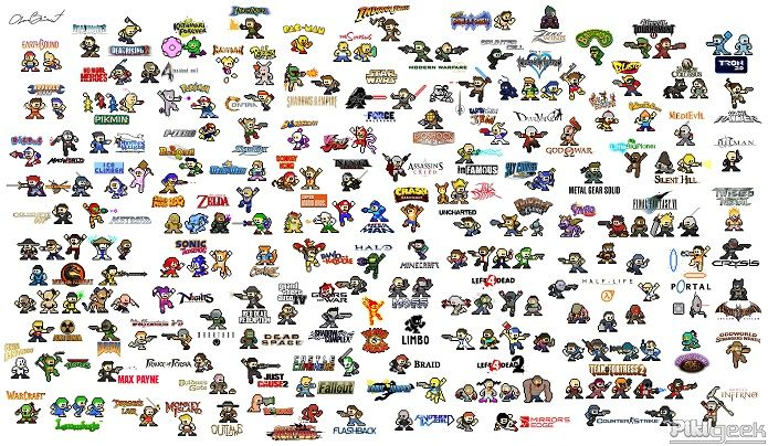 総勢200名人気ゲームキャラクターがロックマン風に大変身