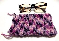 手編みメガネケース