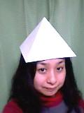 ピラミッドをかぶる
