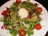 温泉卵と水菜の胡麻サラダ¥600