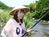初めての鮎釣り〜♪32℃で2時間ねばって結果は!?