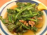 今の季節の青物は小松菜と春菊