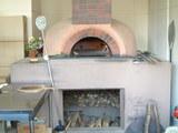 今使われているピザ石釜です!