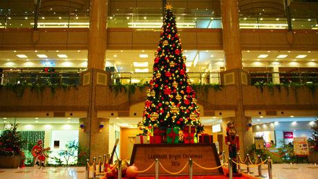 横浜ランドマークタワーのクリスマスツリー2016
