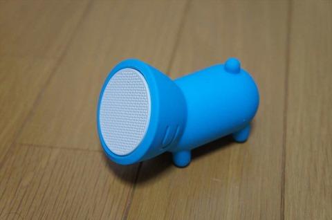 愛嬌のあるデザインの防水スピーカーです。