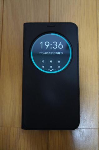 Zenfone Goと一緒に使いたいアイテム①View Flip cover