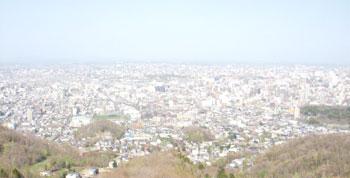 札幌大倉山展望台からの眺め