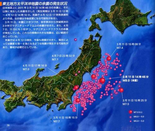 東北沖地震と余震