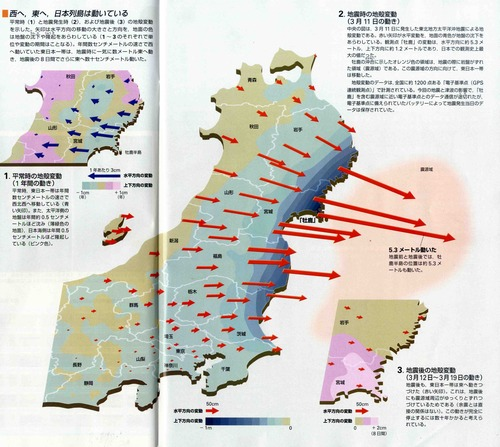 東北沖地震・地盤移動