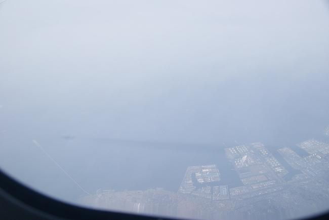 JL855の機窓から