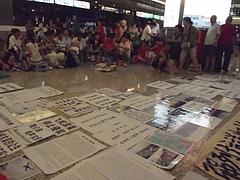 上海虹橋空港でデモ勃発 6