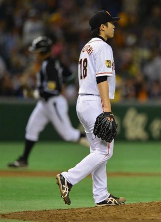 """巨人・杉内""""ドームラン""""3被弾で今季初黒星"""