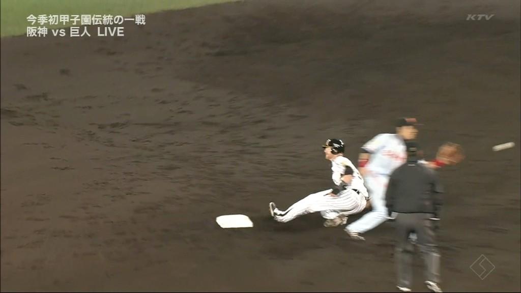 11 4回裏、四球で出塁したマートンが盗塁 Sponsored link  【GIF】マートンが