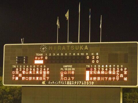 2020/10/20イースタンリーグ横浜VSロッテ観戦記