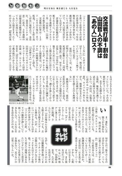 【速報】山田哲人さんの不振の原因、「浩康ロス」と判明wwwwww
