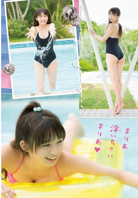 モー娘。牧野真莉愛(16)の水着とHKT田中美久(16)の水着 どっちが可愛い?