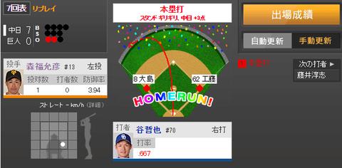【悲報】森福、1球で3失点