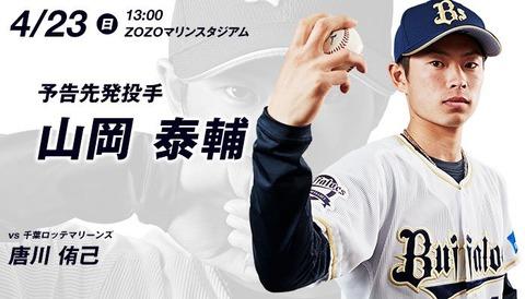 【オリックス】ドラ1ルーキー山岡泰輔、2失点完投で今季2敗目