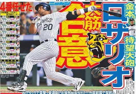 阪神とかいう地味に助っ人野手を使いにくい球団