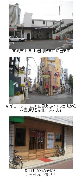 アクセス|讃岐うどん 條辺|埼玉 上福岡