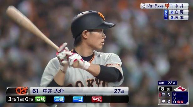 中井大介 .227 2本塁打 4打点 出塁率.305 なのに巨人ファンから叩かれる選手