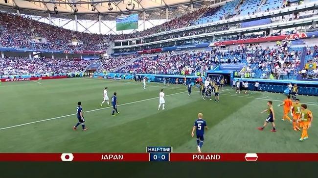 日本代表、前半をスコアレスで折り返す…強豪ポーランドと互角の勝負