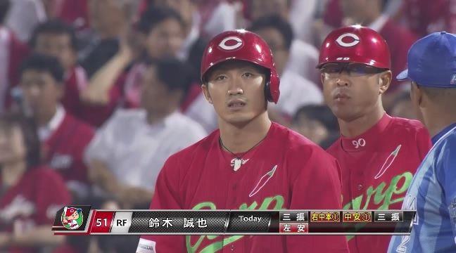 【広島】鈴木誠也(22) 打率.334 23本塁打 85打点 OPS1.006
