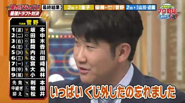 【悲報】中居の侍ジャパン番組、阪神・ロッテの選手が1人も選ばれない