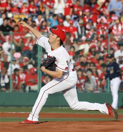 広島薮田 6勝1敗 防御率2.30