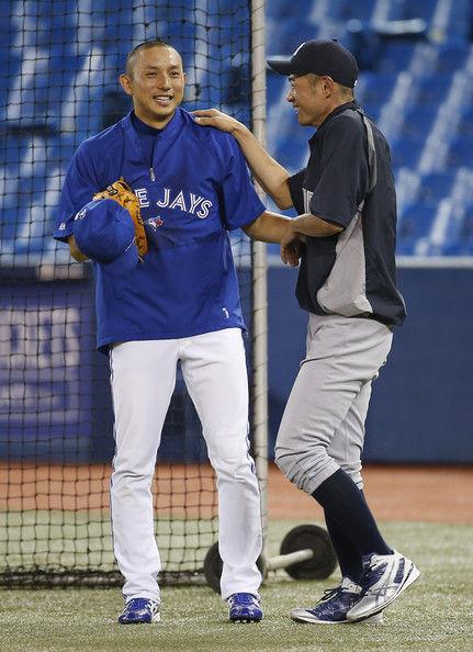 Ichiro+Suzuki+Munenori+Kawasaki+New+York+Yankees+M9SHXpF-ASal