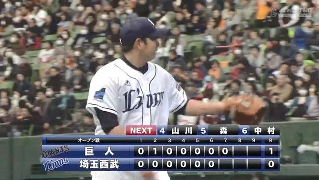 【オープン戦】西武・高木勇人、古巣巨人相手に7回1失点の好投!