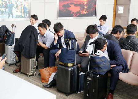 阪神、使用機到着遅れ仙台空港で2時間待ちぼうけ