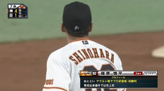【巨人対阪神3回戦】巨人篠原、森福が出した1アウト満塁のピンチを0点に抑える!!