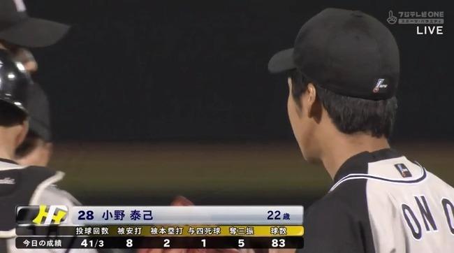 阪神ドラ2小野、プロ初登板初先発は5回途中4失点で降板