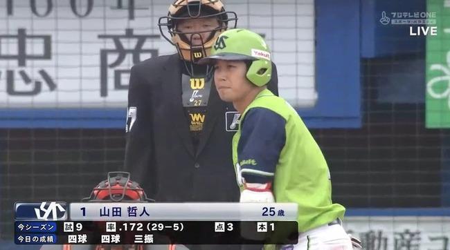 山田哲人(燕) .172 1本 3打点