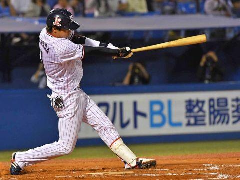 山田哲人(25).286 13本 24打点 OPS.916