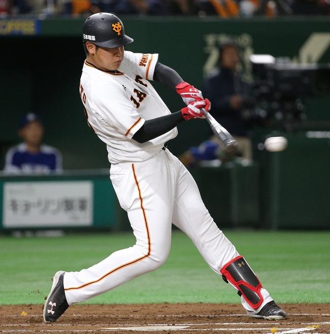 岡本 和真(巨) ファーム33試合 126打席 打率.233 長打率.371 出塁率.278