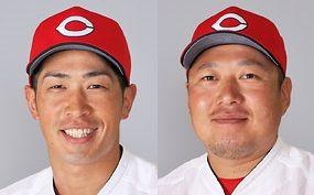 【悲報】広島カープ、安部が腰に違和感、松山は右肩に違和感で途中交代