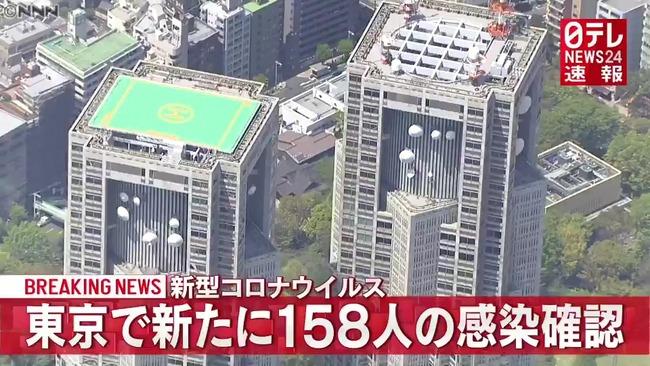 【10/27】東京都で新たに158人の感染確認 新型コロナウイルス