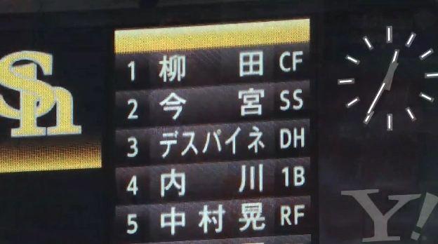 【パCSfinal第5戦】ソフトバンク柳田が復帰即「1番センター」スタメン