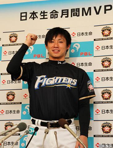 吉川光夫 25試合14勝5敗 防御率1.71 whip0.88 MVP 最優秀防御率 B9