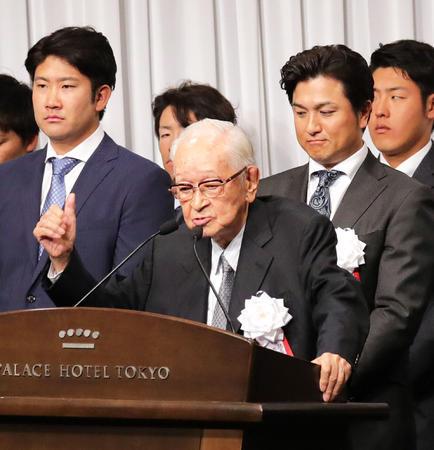 渡辺恒雄氏「今年は非常にホープフル」巨人激励会