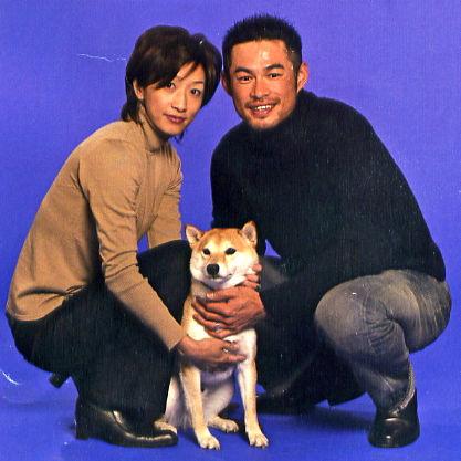イチローと愛犬の一弓 (3)