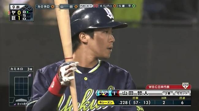 山田 224 2本塁打 6打点←どうすんのこいつ?
