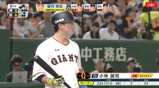 【悲報】巨人小林誠司さん、打率.223 OPS.593 WAR+0.2